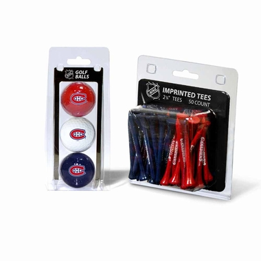 Montreal Canadiens 3 Glaf Balls and 50 Tees