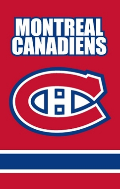Montreal Canadiens Applique Banner Flag