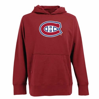 Montreal Canadiens Big Logo Mens Signature Hooded Sweatshirt (Team Color: Red)