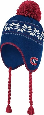 Montreal Canadiens CCM Tassel Pom Snowflake Knit Hat