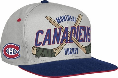 Montreal Canadiens Cross Sticks Snap back Hat