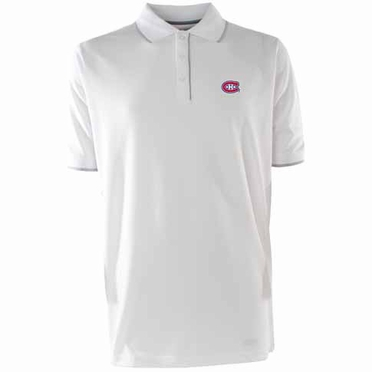 Montreal Canadiens Mens Elite Polo Shirt (Color: White)