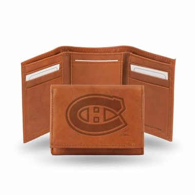 Montreal Canadiens Embossed Leather Trifold Wallet