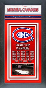 Montreal Canadiens Framed Championship Banner