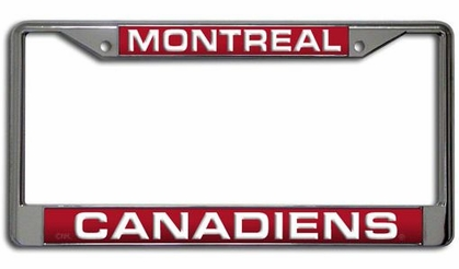 Montreal Canadiens Laser Etched Chrome License Plate Frame