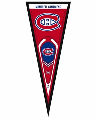 """Montreal Canadiens Pennant Frame - 13"""" x 33"""" (No Glass)"""