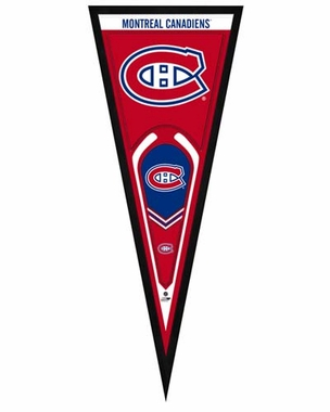 "Montreal Canadiens Pennant Frame - 13"" x 33"" (No Glass)"