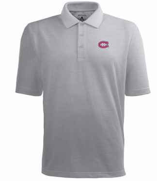 Montreal Canadiens Mens Pique Xtra Lite Polo Shirt (Color: Gray)