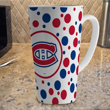 Montreal Canadiens Polkadot 16 oz. Ceramic Latte Mug