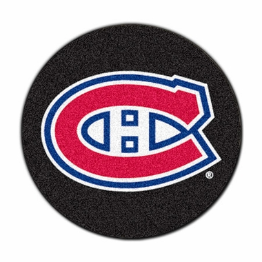 Montreal Canadiens Puck Shaped Rug