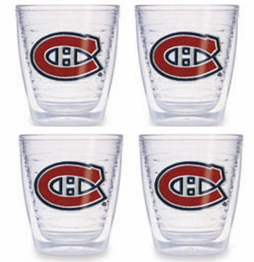 Montreal Canadiens Set of FOUR 12 oz. Tervis Tumblers