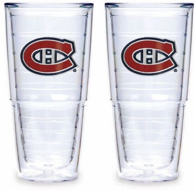 """Montreal Canadiens Set of TWO 24 oz. """"Big T"""" Tervis Tumblers"""