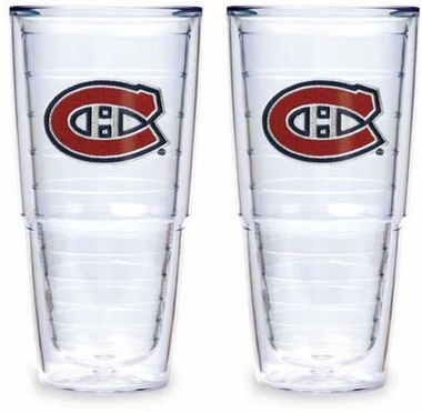 "Montreal Canadiens Set of TWO 24 oz. ""Big T"" Tervis Tumblers"