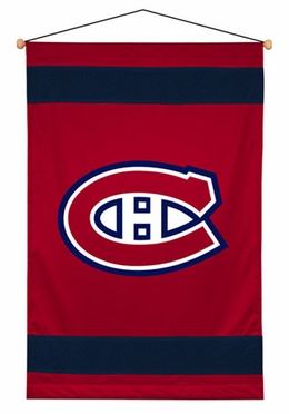 Montreal Canadiens SIDELINES Jersey Material Wallhanging