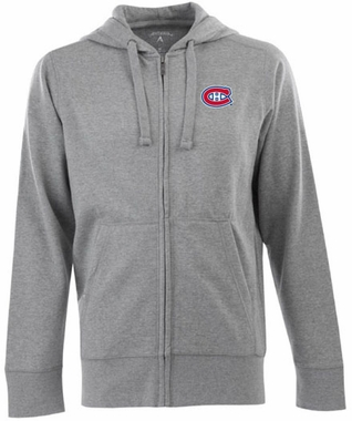 Montreal Canadiens Mens Signature Full Zip Hooded Sweatshirt (Color: Gray)