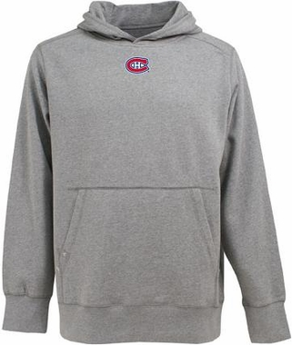Montreal Canadiens Mens Signature Hooded Sweatshirt (Color: Gray)