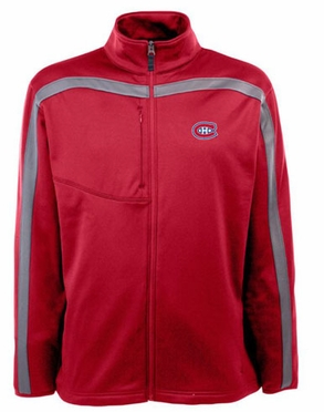 Montreal Canadiens Mens Viper Full Zip Performance Jacket (Team Color: Red)