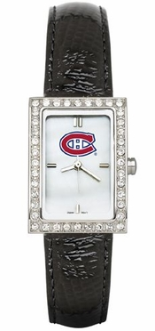 Montreal Canadiens Women's Black Leather Strap Allure Watch