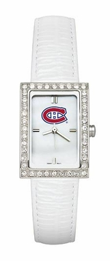 Montreal Canadiens Women's White Leather Strap Allure Watch