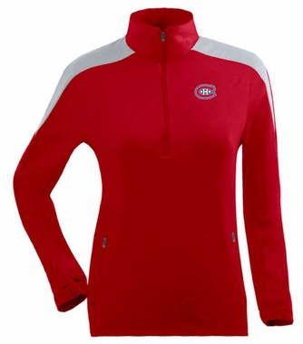Montreal Canadiens Womens Succeed 1/4 Zip Performance Pullover (Team Color: Red)