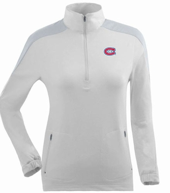 Montreal Canadiens Womens Succeed 1/4 Zip Performance Pullover (Color: White)