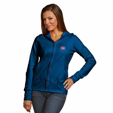 Montreal Canadiens Womens Zip Front Hoody Sweatshirt (Alternate Color: Royal)