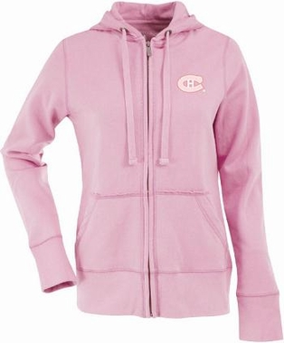 Montreal Canadiens Womens Zip Front Hoody Sweatshirt (Color: Pink)
