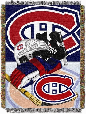 Montreal Canadiens Woven Tapestry Blanket