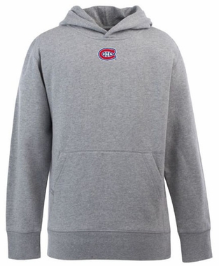 Montreal Canadiens YOUTH Boys Signature Hooded Sweatshirt (Color: Gray)
