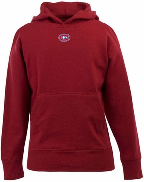 Montreal Canadiens YOUTH Boys Signature Hooded Sweatshirt (Team Color: Red)