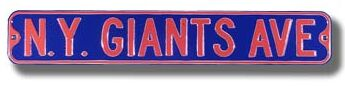 N.Y. Giants Ave Street Sign