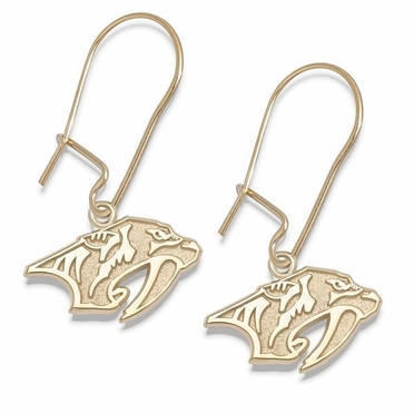 Nashville Predators 10K Gold Post or Dangle Earrings