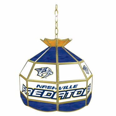 Nashville Predators 16 Inch Diameter Stained Glass Pub Light