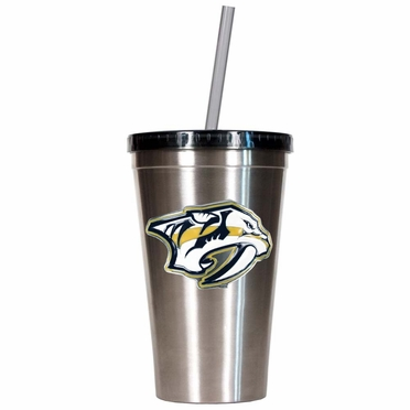 Nashville Predators 16oz Stainless Steel Insulated Tumbler with Straw