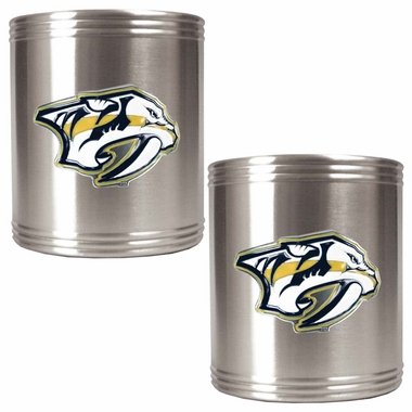Nashville Predators 2 Can Holder Set