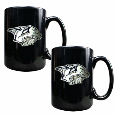 Nashville Predators 2 Piece Coffee Mug Set