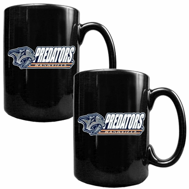 Nashville Predators 2 Piece Coffee Mug Set (Wordmark)