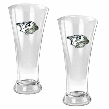 Nashville Predators 2 Piece Pilsner Glass Set