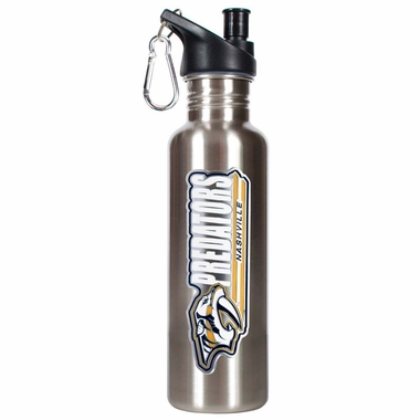 Nashville Predators 26oz Stainless Steel Water Bottle (Silver)