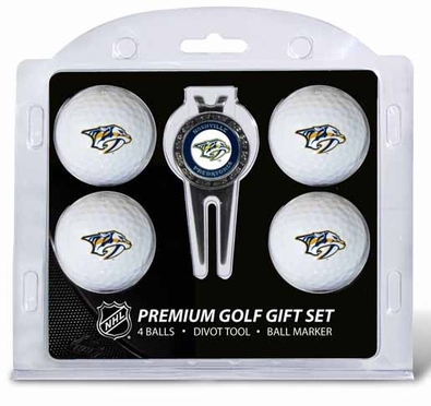 Nashville Predators 4 Ball and Tool Gift Set