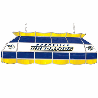 Nashville Predators 40 Inch Rectangular Stained Glass Billiard Light