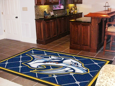 Nashville Predators 5 Foot x 8 Foot Rug