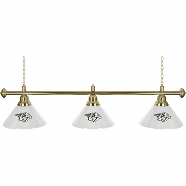 Nashville Predators 60 Inch 3 Shade Billiard Lamp