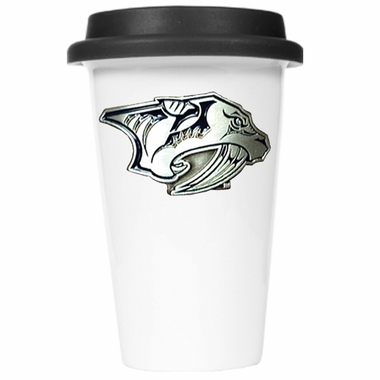 Nashville Predators Ceramic Travel Cup (Black Lid)