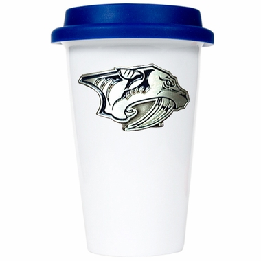 Nashville Predators Ceramic Travel Cup (Team Color Lid)