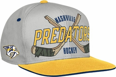Nashville Predators Cross Sticks Snap back Hat