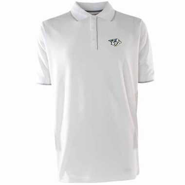 Nashville Predators Mens Elite Polo Shirt (Color: White)