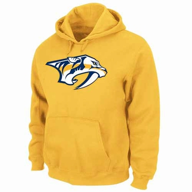 Nashville Predators Felt Tek Patch Gold Hooded Sweatshirt
