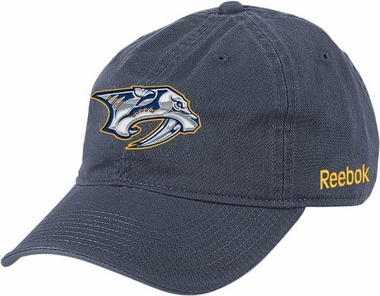 Nashville Predators Logo Team Slouch Adjustable Hat