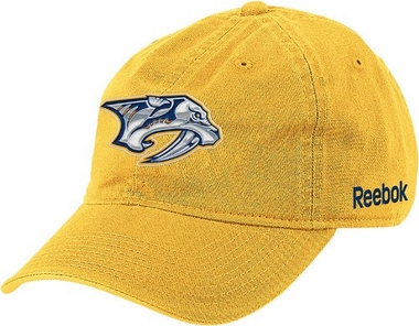 Nashville Predators Logo Yellow Team Slouch Adjustable Hat